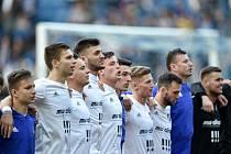Semifinále fotbalového poháru MOL Cupu: FC Baník Ostrava - Bohemians Praha 1905, 24. dubna 2019 v Ostravě. Na snímku radost Baníku.