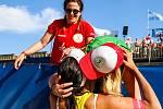 Finále ženy: Agatha Bednarczuk (BRA), Eduarda Santos Lisboa Duda (BRA) - Ana Patricia Silva Ramos (BRA), Rebecca Cavalcanti Barbosa Silva (BRA). FIVB Světové série v plážovém volejbalu J&T Banka Ostrava Beach Open, 2. června 2019 v Ostravě. Na snímku Edua