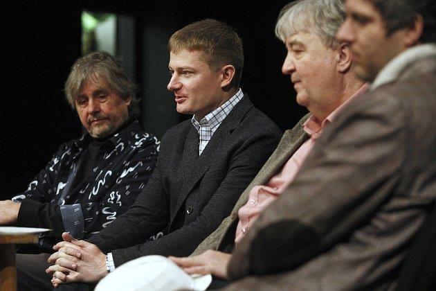 Snímek ztiskové konference knatáčení komedie Ostravak Ostravski ve filmu!!!