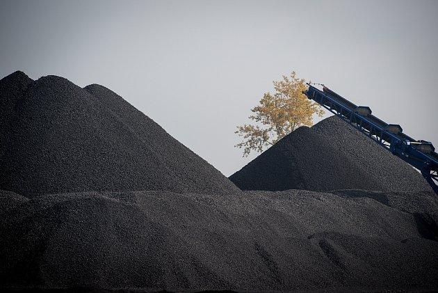 Skládka uhlí vHeřmanicích, 9.říjen 2018vOstravě.