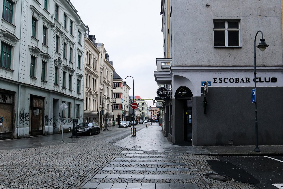 Stodolní ulice v centru Ostravy, 29. prosince 2018.