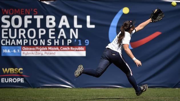 Mistrovství Evropy žen v softballu, 30. června 2019 v Ostravě. Zápas ČR - Litva.