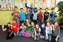Děti třetí třídy Základní školy Zelená v Ostravě-Mariánských Horách.