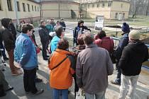 Návštěvníci, kteří si vodárnu a její provozy prohlédli 24. března v rámci Dne otevřených dveří.