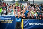Turnaj Světového okruhu v plážovém volejbalu - semifinále, 24. června 2018 v Ostravě. Na snímku Markéta Sluková.