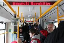 Cesstování tramvají v Ostravě. Ilustrační foto.