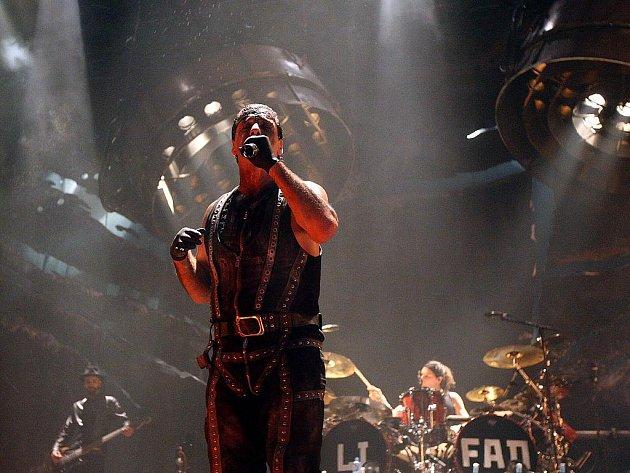 Koncert kapely Rammstein v Čez aréně.