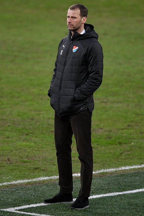 Utkání 23. kola první fotbalové ligy: FC Baník Ostrava – 1. FK Příbram, 13. března 2021 v Ostravě. Trenér Ostravy Ondřej Smetana.