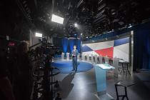 Ilustrační snímek. Debata kandidátů na primátora města Ostravy v České televizi, 13. září 2018 v Ostravě.