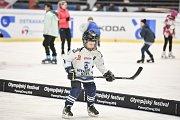 Olympijský festival u Ostravar Arény, 12. února 2018 v Ostravě. Hokej.