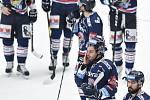 Čtvrtfinále play off hokejové extraligy - 1. zápas: HC Oceláři Třinec - HC Vítkovice Ridera, 20. března 2019 v Třinci. Na snímku Josef Hrabal.