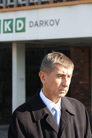 Ministr financí Andrej Babiš (ANO) vKarviné.