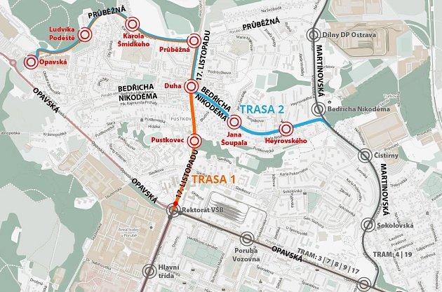 Rozšiřování tramvajové trati v Porubě