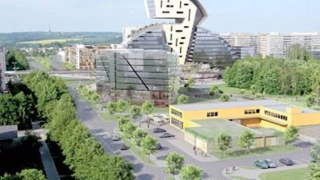 Návrh na zástavbu proluky Hlavní třídy v Ostravě-Porubě