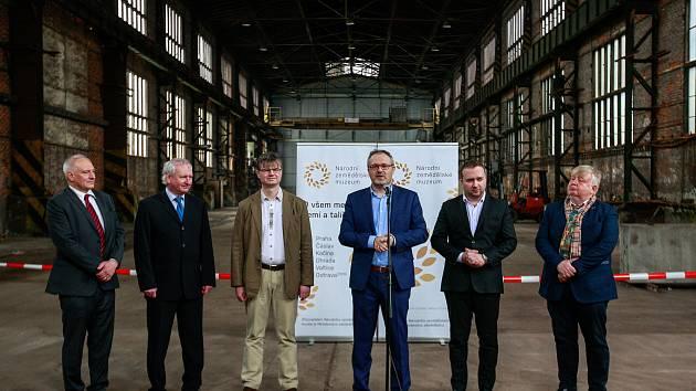 Projekt pobočky Národního zemědělského muzea v Ostravě zahrnoval úpravu dvou továrních hal v areálu ostravských Dolních Vítkovic. Archivní snímek z doby zahájení rekonstrukce.