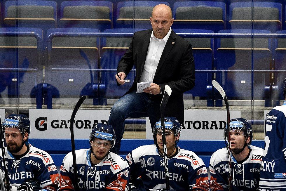 Utkání 27. kola hokejové extraligy: HC Vítkovice Ridera - HC Litvínov, 13. prosince 2020 v Ostravě. trenér Miloš Holaň z Vítkovic.