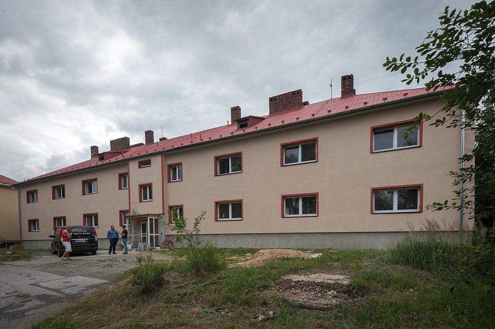 Stavba od podnikatele Rostilava Mitruse - Heřmanice, ulice Kubínova.