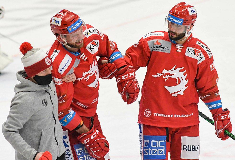 Tomáš Marcinko z Třince - 29. kolo Tipsport Extraligy HC VÍTKOVICE RIDERA - HC Oceláři Třinec, 26. prosince 2020 v Ostravě.