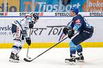 Utkání 17. kola hokejové extraligy: HC Vítkovice Ridera - Rytíři Kladno, 3. listopadu 2019 v Ostravě. Na snímku zleva Šimon Stránský, André Lakos.