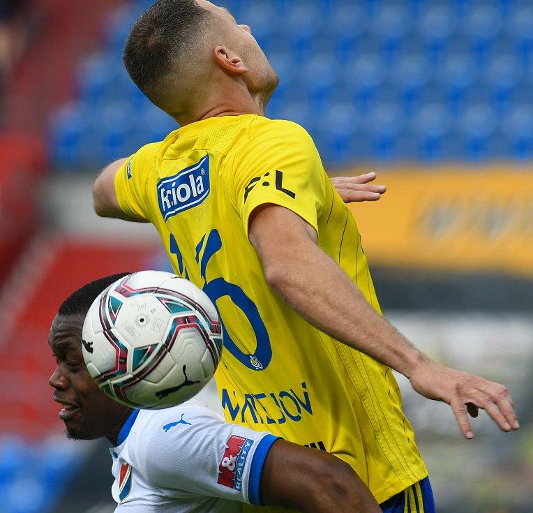 Fotbalisté Baníku Ostrava bojovali 15. května 2021 v utkání 32. ligového kola se Zlínem.