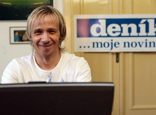 Rudolf Otepka při on-line rozhovoru v redakci Moravskoslezského deníku
