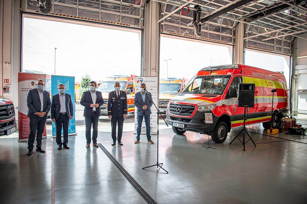 Předání nové techniky Hasičům, 24. července 2020 v Ostrava.