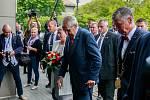 Návštěva prezidenta Miloše Zemana v Moravskoslezském kraji. Uvítání na Krajském úřadě.