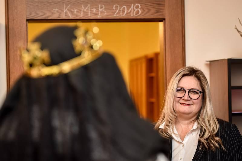Tříkrálová sbírka na radnici městského obvodu Moravská Ostrava a Přívoz, 2. ledna 2019 v Ostravě. Na snímku starostka Zuzana Ožanová (ANO).