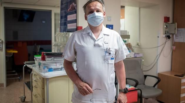 Tomáš Málek, primář ARO ve Vítkovické nemocnici v Ostravě.