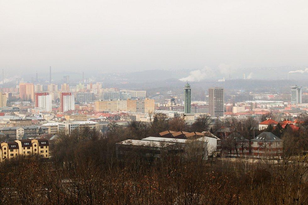 Novoroční výstup na haldu Ema, 1. ledna 2019 v Ostravě.
