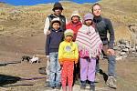 Návštěva rodiny v peruánských Andách.