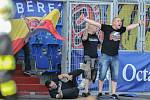 Utkání 26. kola první fotbalové ligy: Baník Ostrava - Sparta Praha, 28. dubna 2018 v Ostravě. Fanoušci Sparty.