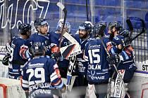 Utkání 15. kola hokejové extraligy: HC Vítkovice Ridera - Bílí Tygři Liberec, 17. října 2021 v Ostravě. Radost hráčů Vítkovic.