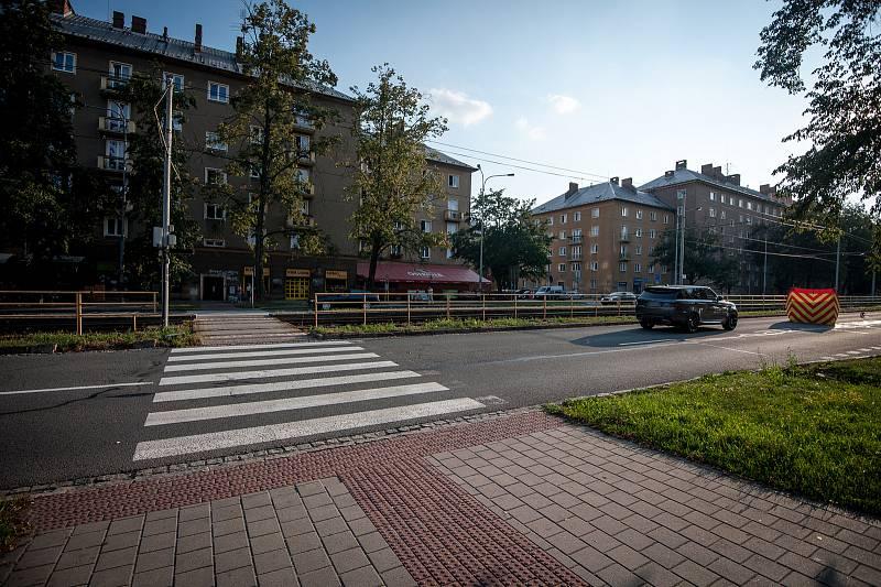 Dopravní nehoda s následkem smrti v městské části Poruba, na tzv. přechodě smrti, 29. července 2018 v Ostravě.
