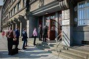 Soudní jednání o osudu OKD u Krajského soudu v Ostravě 24. srpna 2017.
