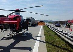 Nehoda na dálnici.