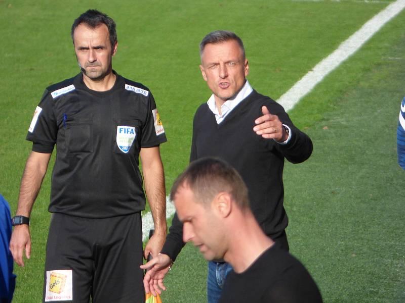 Fotbalisté Baníku Ostrava v neděli hráli v Liberci. Trenér Slovanu Luboš Kozel.