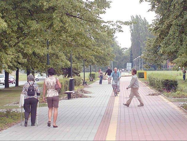 Hlavní třída v Ostravě-Porubě. Ilustrační foto.