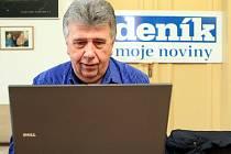 Jan Vozárik při ON-LINE rozhovoru pro čtenáře Deníku.