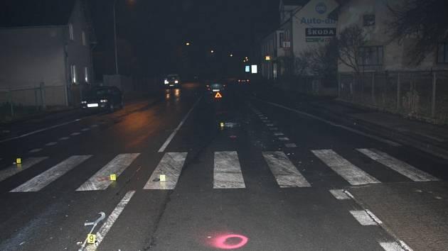 Místo tragédie. Policie na místě nehody zajistila důležité stopy.