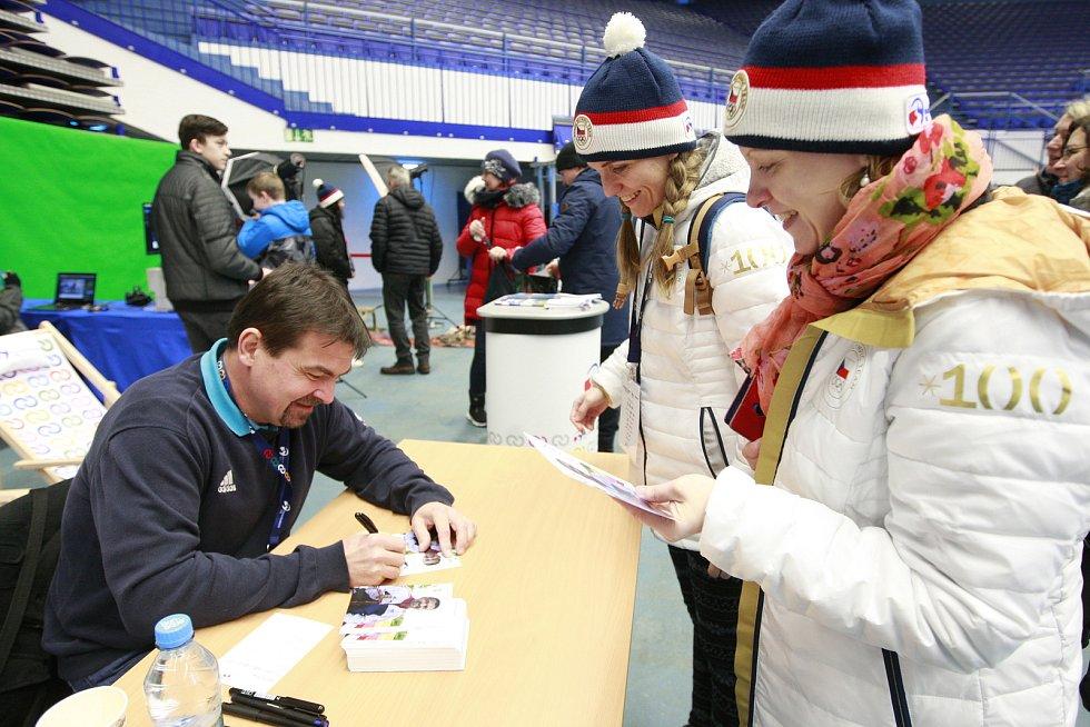 Olympijský festival v Ostravě, 10. února 2018. Dopolední host - úspěšný český reprezentant Martin Tenk.