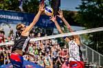 J&T Banka Ostrava Beach Open - semifinále muži, 6. června 2021 v Ostravě. Ondřej Perušič (CZE).