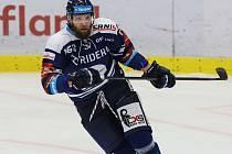 Utkání 9. kola hokejové extraligy: HC Vítkovice Ridera - HC Škoda Plzeň, 4. října 2020 v Ostravě. Adam Polášek z Vítkovic.