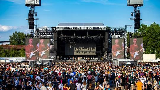 Hudební festival Colours of Ostrava 2019 v Dolní oblasti Vítkovice, 17. července 2019 v Ostravě. Na snímku skupina Buty.