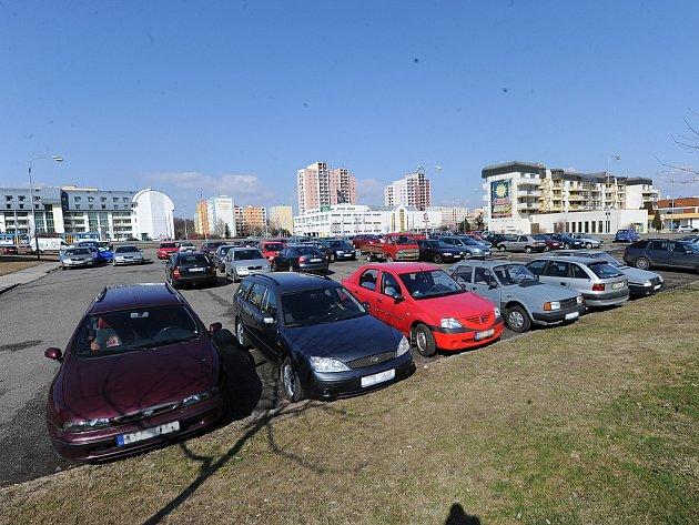 Parkování v městském obvodu Ostrava-Jih.