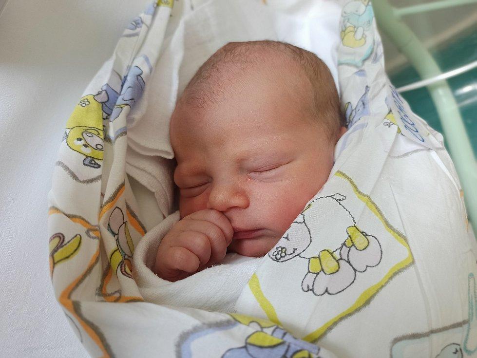Sebastian Zogata, Vendryně, narozen 15. června 2021, míra 50 cm, váha 3540 g Foto: Gabriela Hýblová