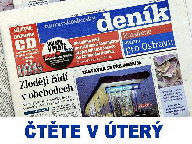 Čtěte v Moravskoslezském deníku