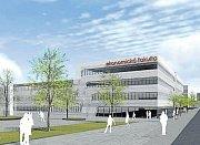 Vizualizace - nová budova Ekonomické fakulty VŠB-TUO má vzniknout jako přístavba současné budovy H