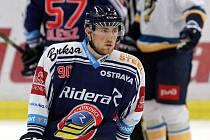 Jakub Lev v dresu HC Vítkovice Ridera. Ilustrační foto.