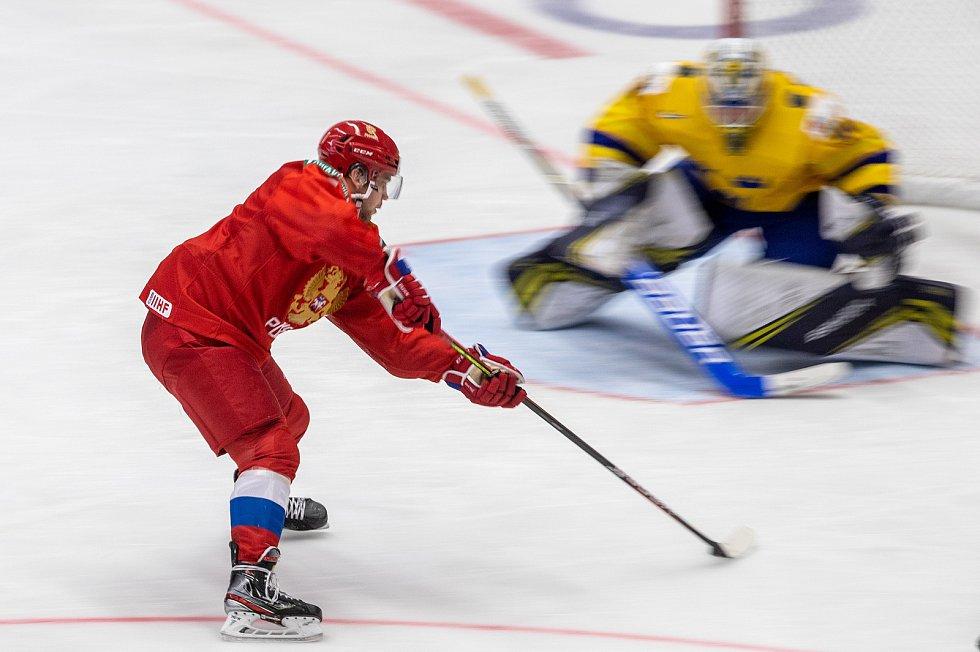 Mistrovství světa hokejistů do 20 let, semifinále: Švédsko - Rusko, 4. ledna 2020 v Ostravě.